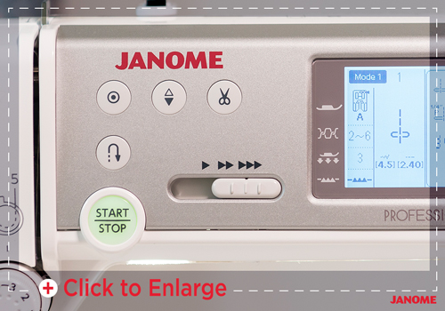 Janome MC6700P buttons- Franklins Group