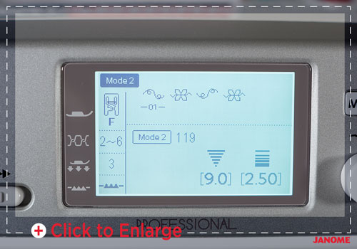 Janome MC6700P screen- Franklins Group