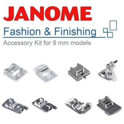Janome Fashion & Finishing Feet Set