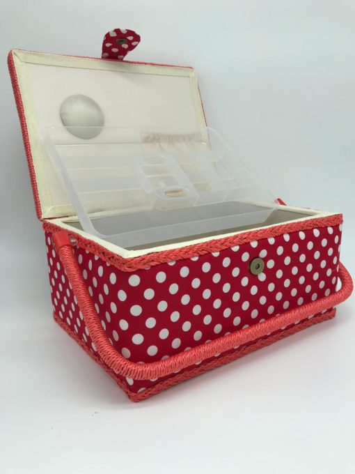 Red dots sewing box 5 - Franklins Group