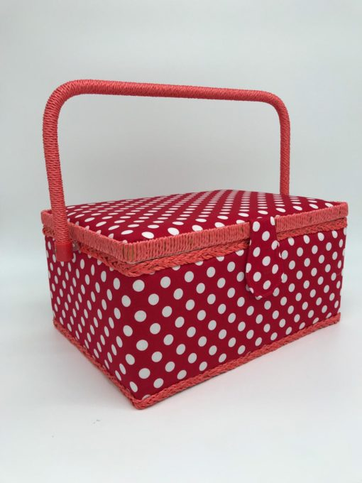 Red dots sewing box 6 - Franklins Group