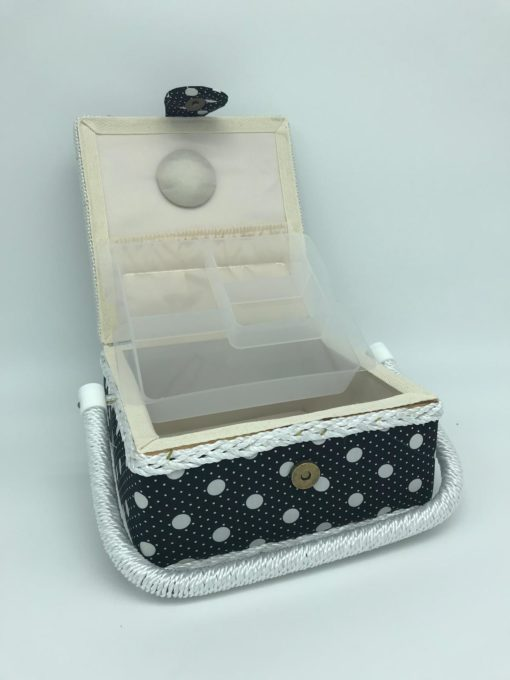 sewing box - Black with White Dots 2 - Franklins Group
