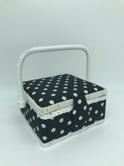 sewing box - Black with White Dots - Franklins Group