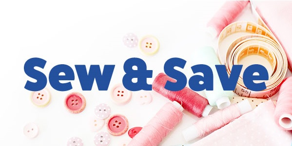 sew and save banner