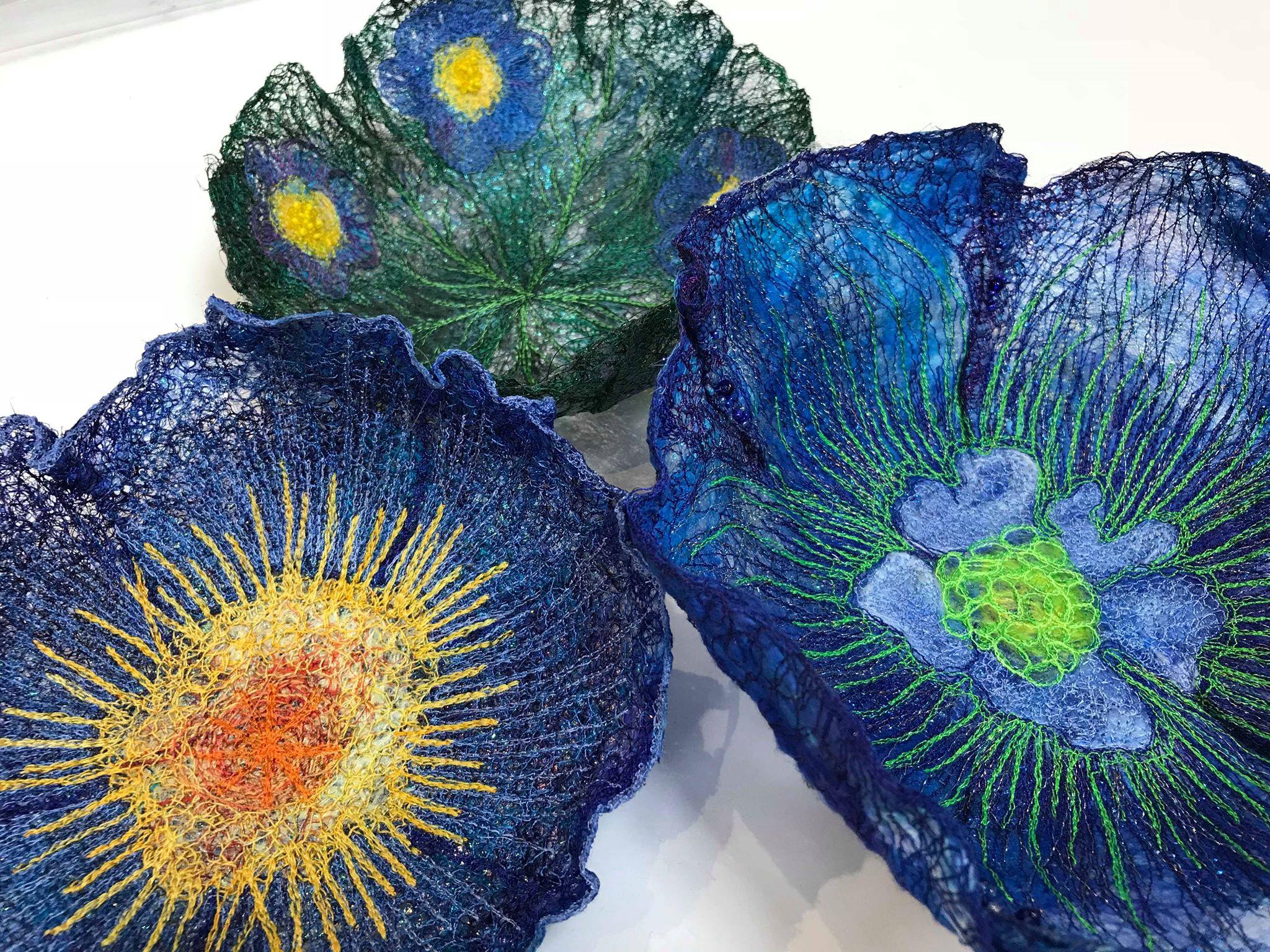 embroidered bowl - Franklins Group