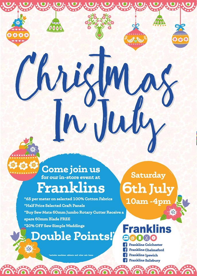 Christmas In July 2019 Images.Saturday 6th July Christmas In July 2019 Franklins Group