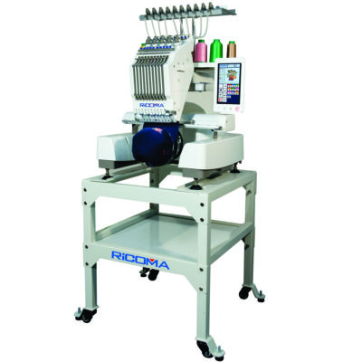 Ricoma EM 1010 Embroidery machine on stand