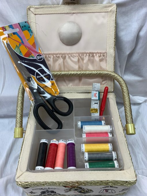 Sewing Box, Scissors and Habi items