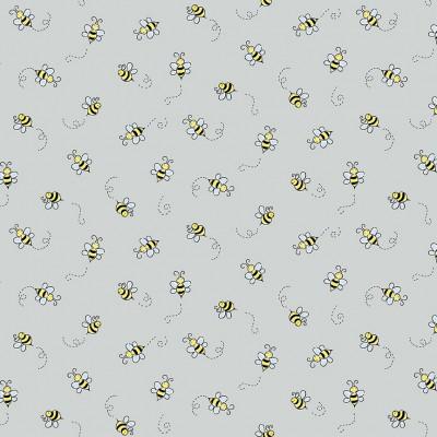 Makower Bumble Bee Light Grey 9715C1