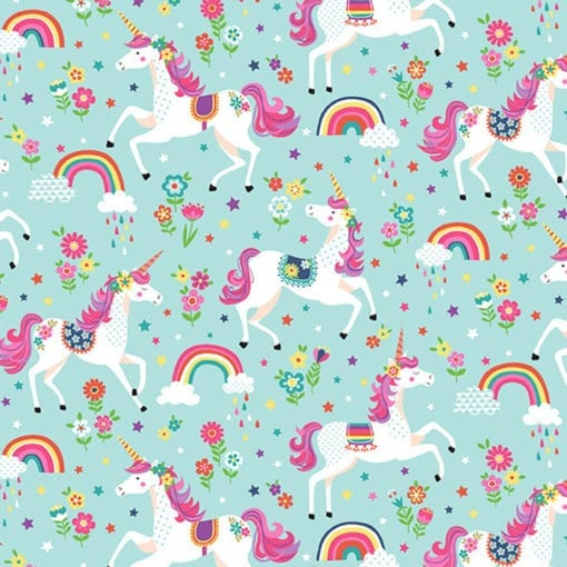 Makower Daydream Unicorns 2275T