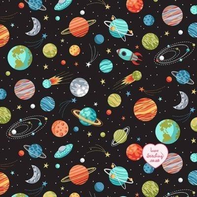 Makower Space Planet Black 2270 X