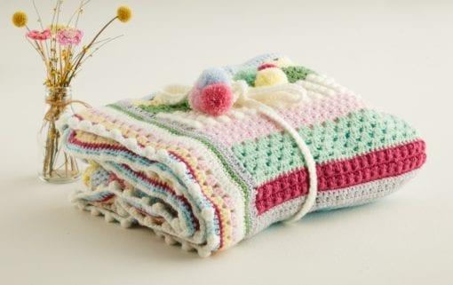 Sirdar Sweet blossom blanket